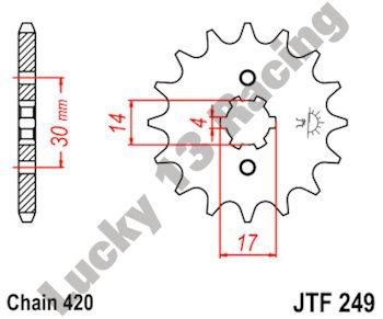 JC37 ANF125 Innova JT Front Sprocket JTF249 14 Teeth fits Honda 03-12 125 Supra-X Greece ,