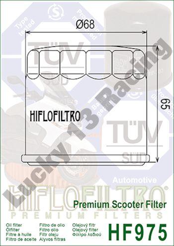 3x Filtre à huile Hiflo hf975 suzuki à 650 z Burgman Executive ABS